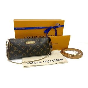 Authentic Louis Vuitton Eva Clutch Retired Bag
